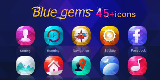 Blue Gems GO Launcher Theme