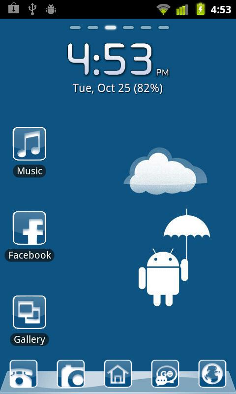 Elegant Blue Theme - screenshot