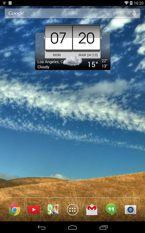3D Flip Clock & World Weather - screenshot