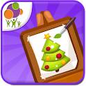 Kids Christmas Painting icon