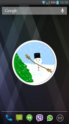 Winter Clock Widget