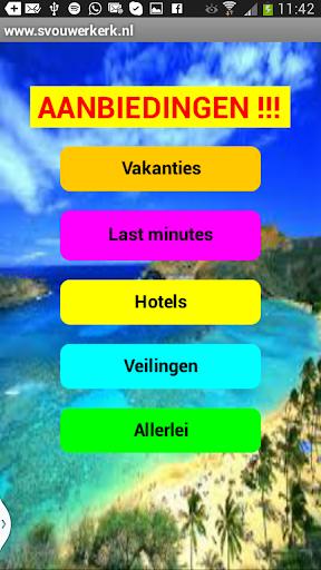 Aanbieding vakantie hotel etc