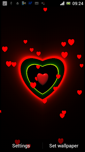3D Neon Love Shower PRO LWP