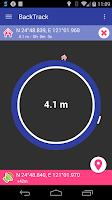Screenshot of BackTrack Compass