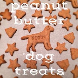 Peanut Butter Dog Treats.