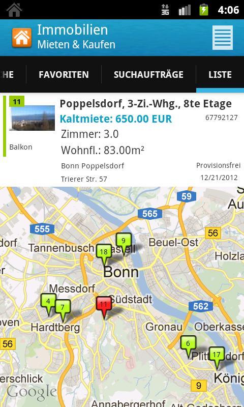 Immobilien: Mieten & Kaufen HD - screenshot