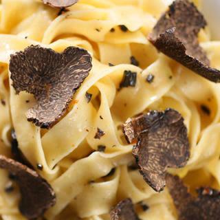 Black Truffles Over Fresh Pasta.