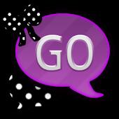 GO SMS THEME/PurplePolkaDots