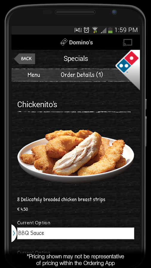 Domino's Pizza Belgium- screenshot