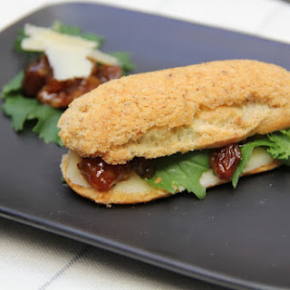 Savory Eclairs with Crispy Parmesan Topping..