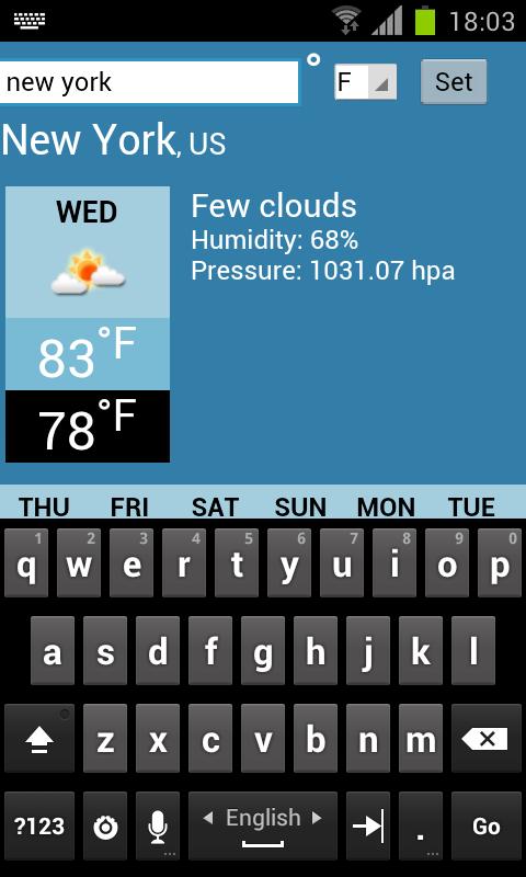 การพยากรณ์อากาศ - screenshot