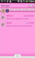 Screenshot of GO SMS THEME/PinkZebra4U