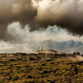Shifting wheather by Bragi Kort - Landscapes Cloud Formations ( clouds, wheter, iceland, bragi kort, lighthouse, bkost photography )