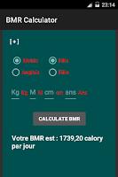 Screenshot of BMR Calculator