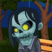 Zombie In Night Park