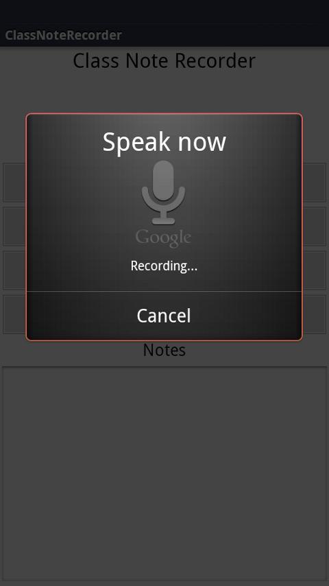ClassNoteRecorder- screenshot