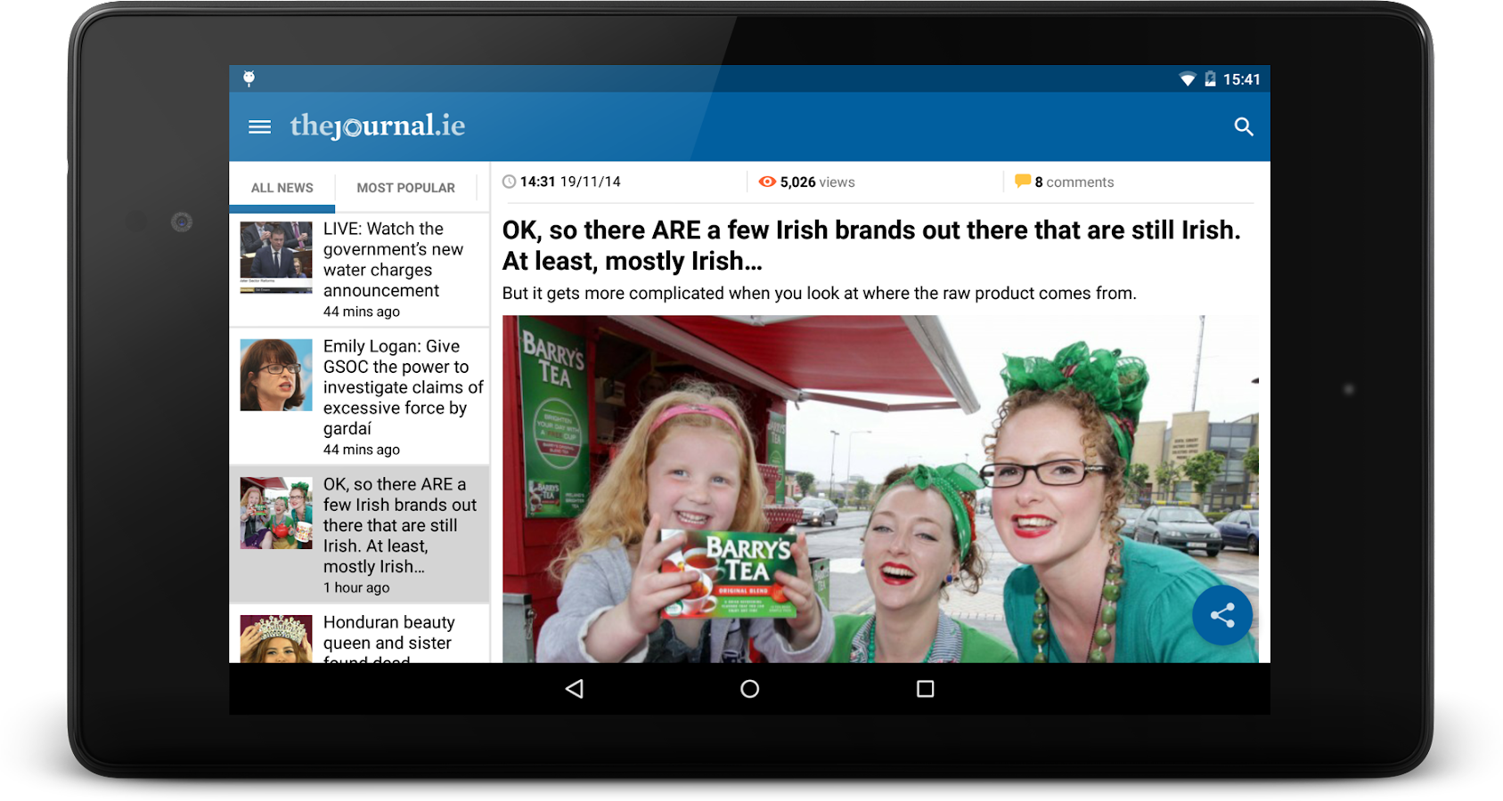 TheJournal.ie News - screenshot