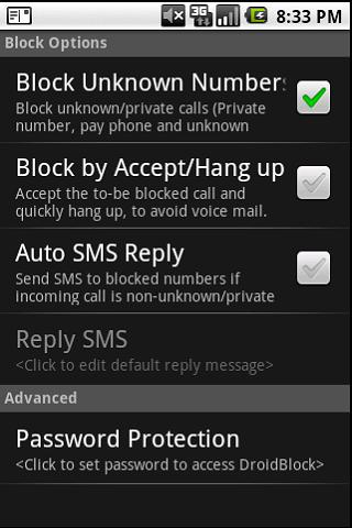 DroidBlock - screenshot