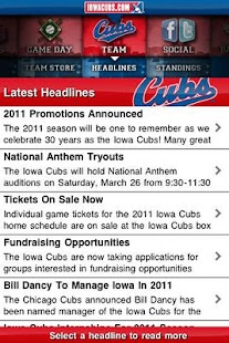 Iowa Cubs - screenshot thumbnail