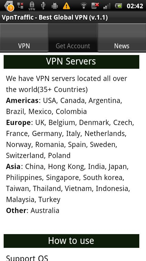 VpnTraffic-One Tap VPN Client - screenshot