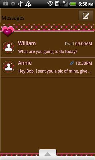 GO SMS THEME ChocolateHearts1