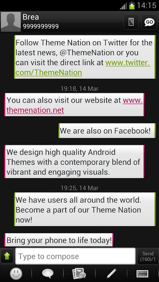 GO SMS Theme - Theme Nation - screenshot
