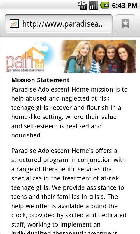 Paradise Adolescent Home- screenshot