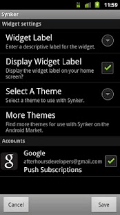 Synker - The Sync Widget- screenshot thumbnail