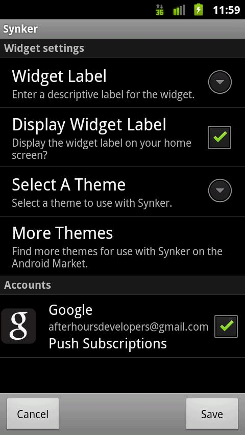 Synker - The Sync Widget- screenshot