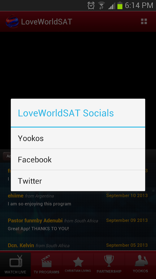 LoveWorld SAT Mobile- screenshot