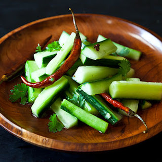 Jeffrey Alford & Naomi Duguid's Spicy Cucumber Salad.