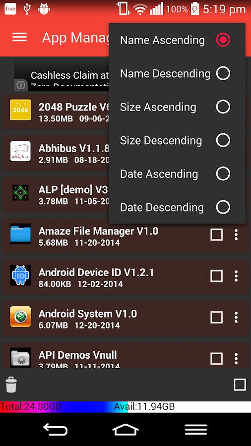 App2sd card-appmgr3 - screenshot