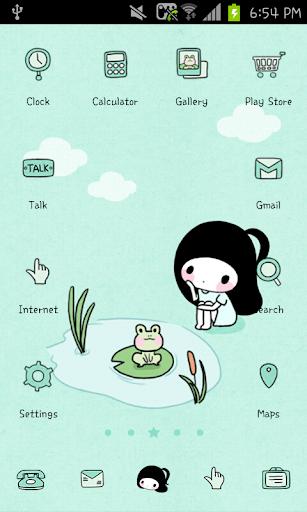 Bongja pond go launcher theme