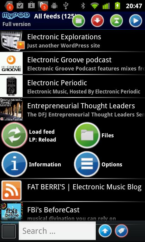 MyPOD Podcast Manager Free - screenshot