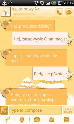 GO SMS Christmas Snow Theme