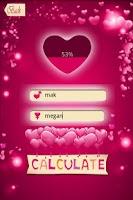 Screenshot of Love Percentage Calculator