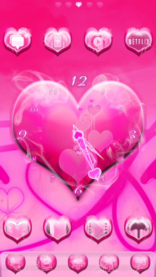 Smokin' HOT PINK Clock - screenshot