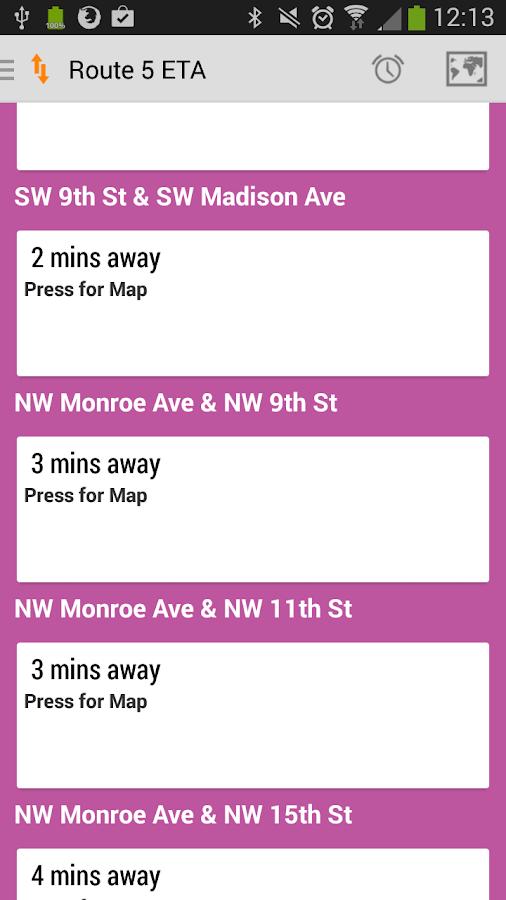 Corvallis Transit- screenshot