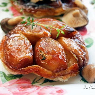 Upside-down Shallot and Mushroom Tartlets.