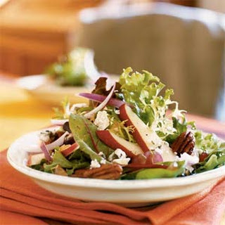 Spiced Pecan Pear Salad with Maple-Mustard Vinaigrette