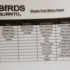 Freebirds Gluten Free Menu