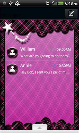 GO SMS THEME TwinklingPlaid1