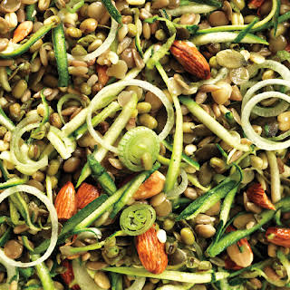 Brown Rice Salad with Crunchy Sprouts and Seeds.