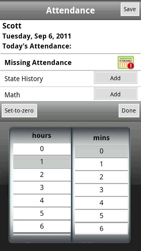 K12 Attendance- screenshot