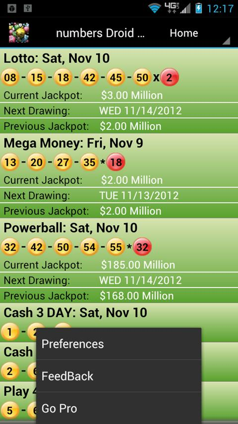 Virginia Lottery Droid Lite - screenshot