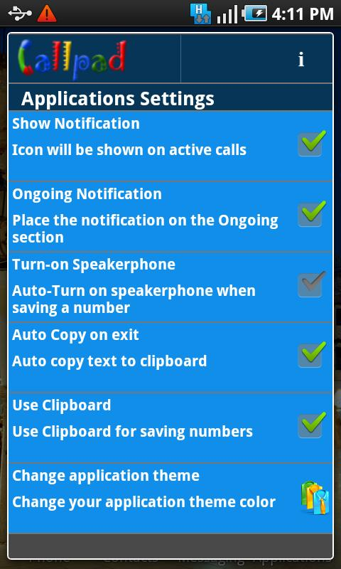 Callpad - screenshot