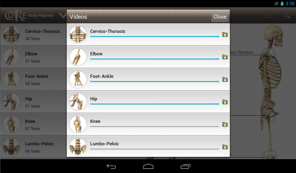 CORE-Clinical Orthopaedic Exam - screenshot