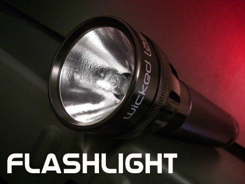 LED flashlight: efficiency