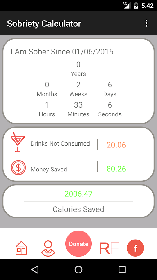 Sobriety Tracker/Counter- screenshot