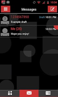 GO SMS THEME - Red Shapes- screenshot thumbnail